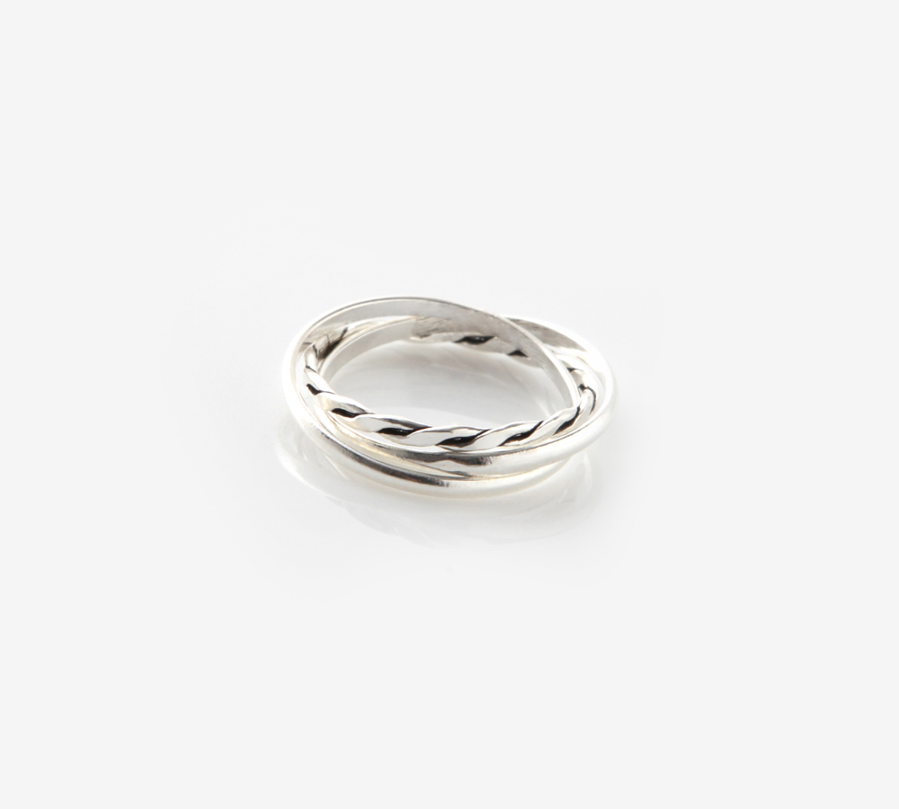 Layerde Silver Ring
