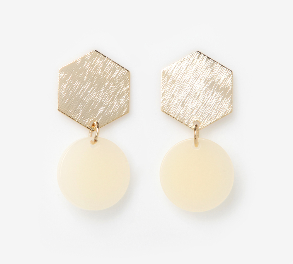 엔틱 육각 볼드 귀걸이 (Antique Hexagonal Bord Earrings)